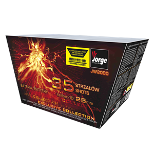 JW2000 Exclusive Collection Jorge Fireworks Waaier Fan Shape Vuurwerk Vuurwerkbatterij Vuurwerkbox Fireworks Compact