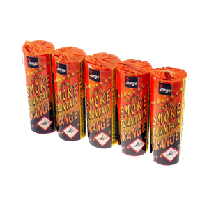 JFS 1 Orange Smoke Fountain (Pack Of 5) Oranje Rook Jorge Fireworks