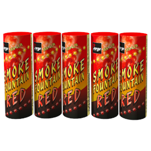 JFS 1 Red Smoke Fountain (Pack Of 5) Rode Rook Jorge Fireworks